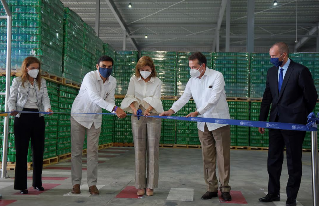 Cervecería inaugura centro de distribución con la presencia de la vicepresidenta Raquel Peña