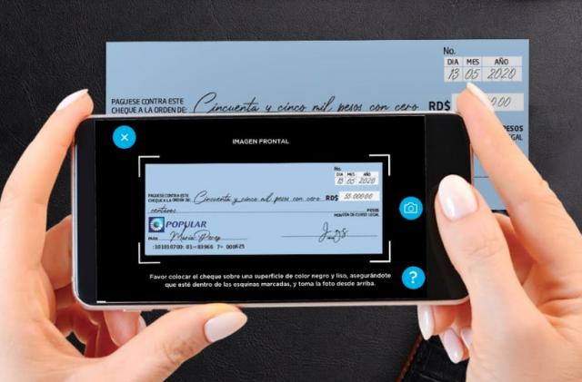 Banco Popular habilita deposito de cheques y adquisición de token digital desde su App.