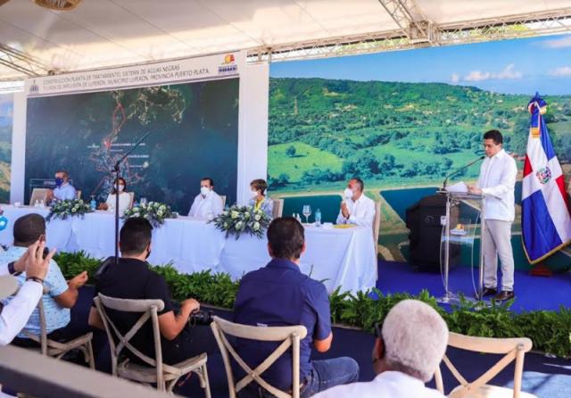 Inauguran planta de tratamiento y sistema de aguas residuales en Luperón