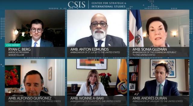 Sonia Guzmán participa en panel en vivo con embajadores regionales