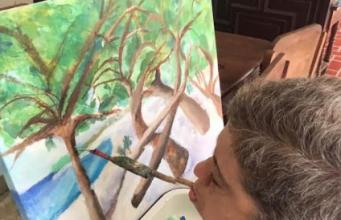 Artista Rebeca Barrera presentará exposición de pinturas en el lobby del Teatro Nacional